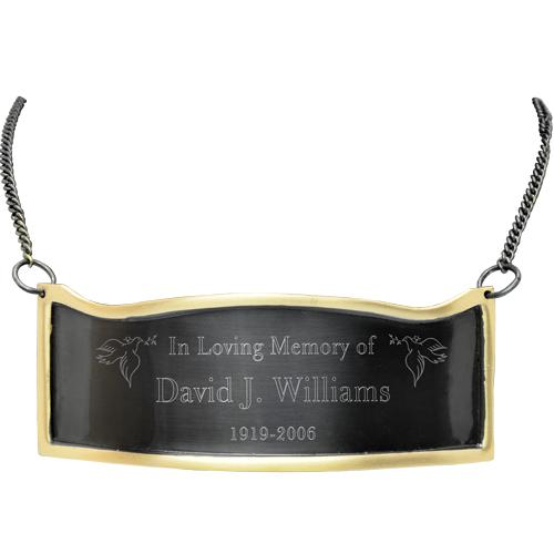 Contoured Slate & Brass Memorial Plaque