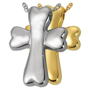 Dog Bone Cross Cremation Pendant