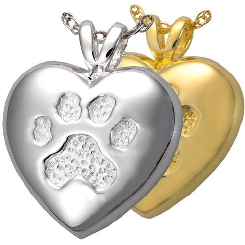 A Touch of Your Paw Cremation Pendant