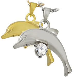 Dolphin with Stone Cremation Pendant