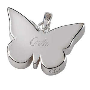 Perfect Filigree Butterfly Cremation Pendant