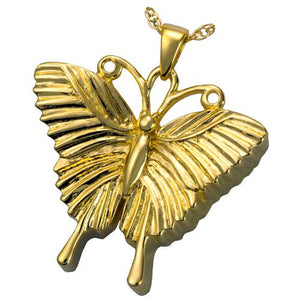 Antique Butterfly Cremation Pendant