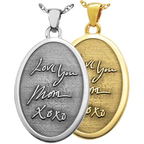 3D Handwriting Jewelry- Oval