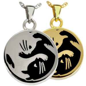 Kitty Yin Yang Cremation Pendant
