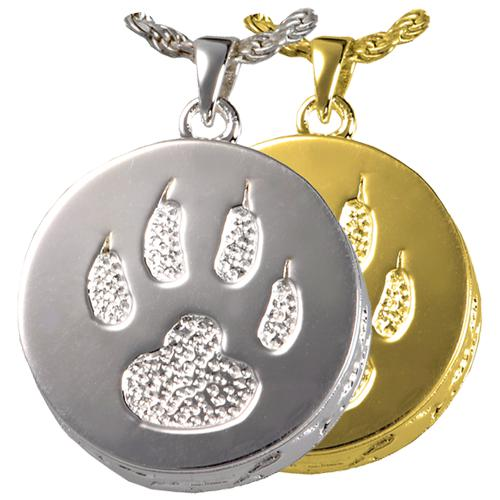 Cat Paw Cremation Pendant