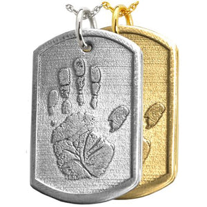 3D Dog Tag Handprint Pendant