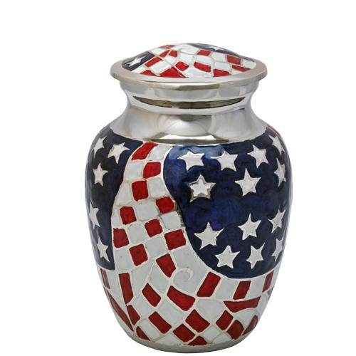 USA Flag Patriotic Sharing Urn 6""