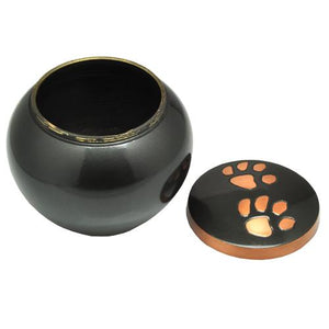 Copper Pawprints Cremation Urn
