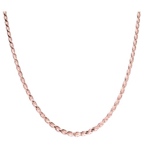 Rose Gold-Filled Rope Chain