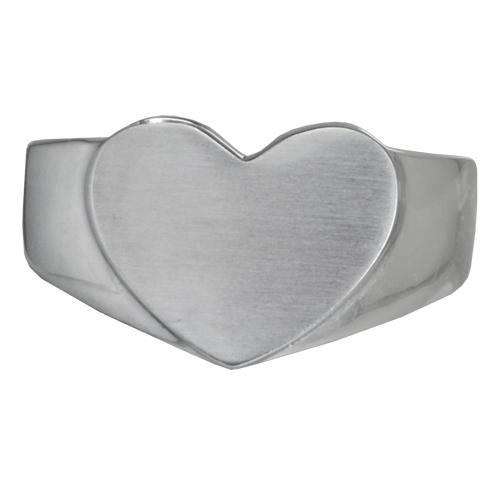 Premium Stainless Steel Bold Heart Ring