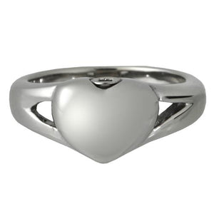 Premium Stainless Steel Simple Heart Ring