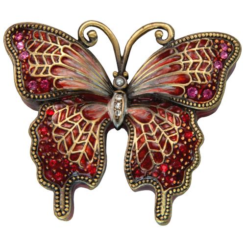 Crimson Butterfly Urn Keepsake