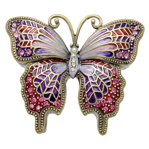 Purple Butterfly Urn Keepsake