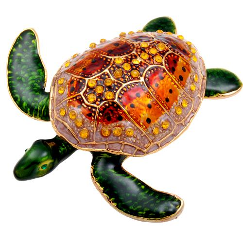 Orange Turtle Urn Keepsake