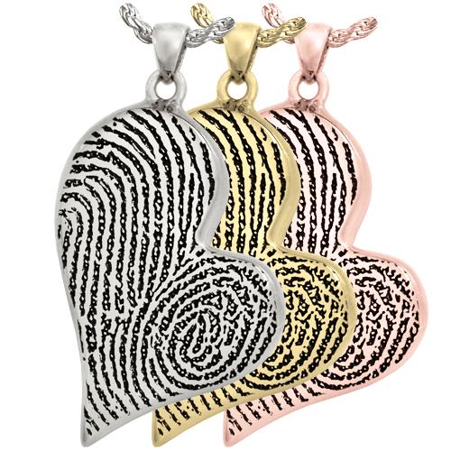 Teardrop Heart Double-Print Pendant