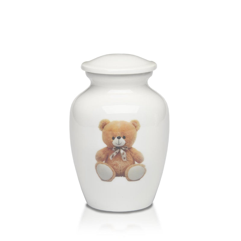 Sweet Baby Teddy Bear Alloy Urn