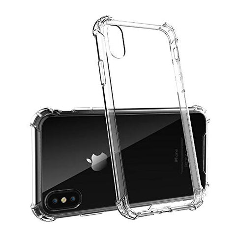 Clear Hard Shockproof Case, No-Slip Grip Cover for iPhone X