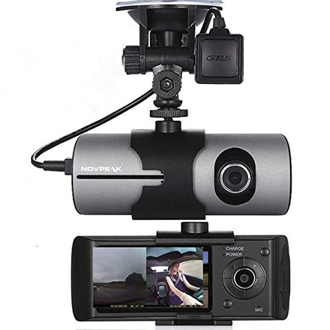 Dual Dash Cam Recorder 2.7 Inch TFT LCD Full HD Vehicle Car DVR Wide Angle Lens, G-Sensor and GPS Trader