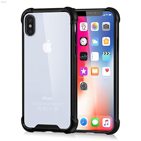iPhone X Clear Case, Scratch Resistant, Soft TPU Shockproof Cover