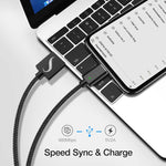 SWIFT BLACK Magnetic Data Sync Charging Cable (Lightning, Micro USB, USB Type-C)
