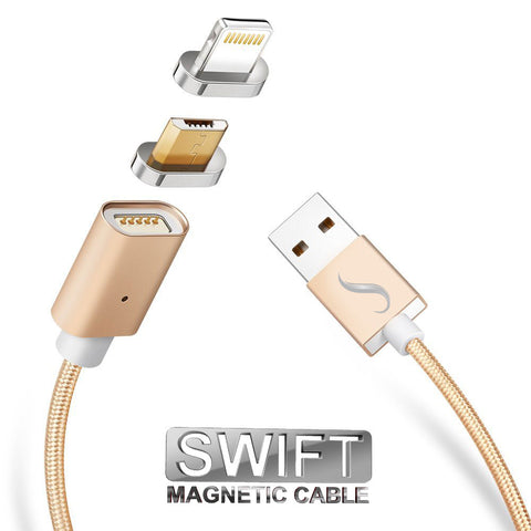 SWIFT 2-in-1 Magnetic Charging Cable (Lightning, Micro USB)