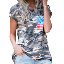Women's Camouflage Flag Tee