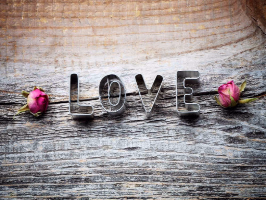 Katebackdrop:Kate Valentine'S Day Wood Wall With Love Backdrops
