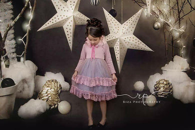Katebackdrop:Kate Children Grey Star Photography Backdrops for Christmas photos deco