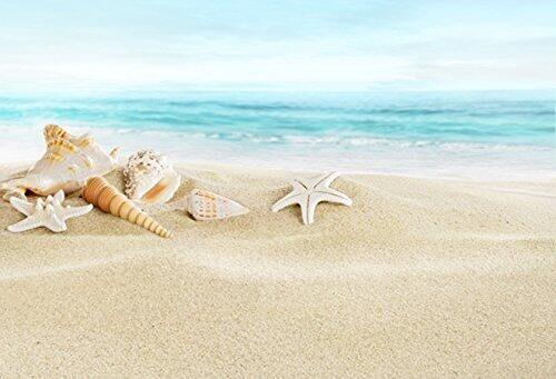 Katebackdrop:Kate Star fish Shells Beach Backdrops for Photography
