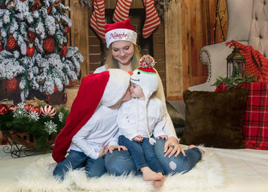 Katebackdrop:Kate Christmas Stocking Backdrop Photo Background Studio Props