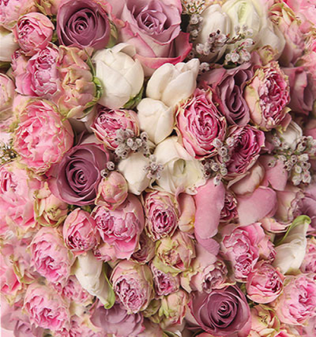 Katebackdrop:Kate Pink White Flowers For Wedding Photo Studio Valentine's Day Backdrops
