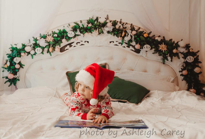Katebackdrop£ºKate Christmas White Headboard Wreath Decoration Backdrop