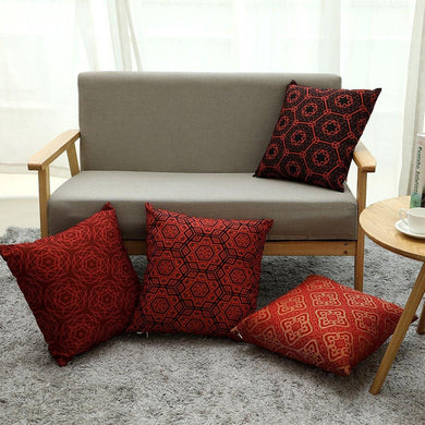 Katebackdrop:Pillow Cases Nobel Red Pattern Decorative Home Décor Cover Cushion