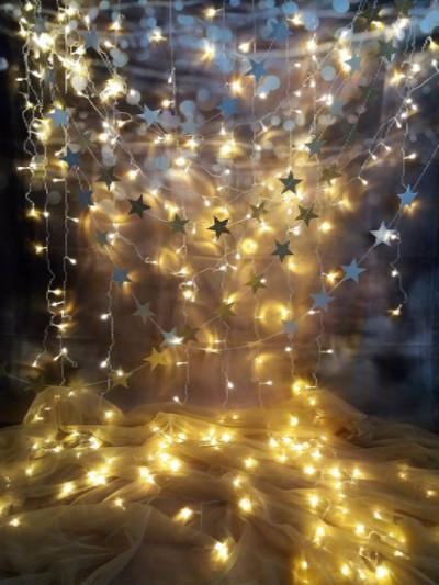 Laden Sie das Bild in den Galerie-Viewer, Katebackdrop:Kate Cotton Collapsible Cloth Curtain Star Lighting Photography Backdrops