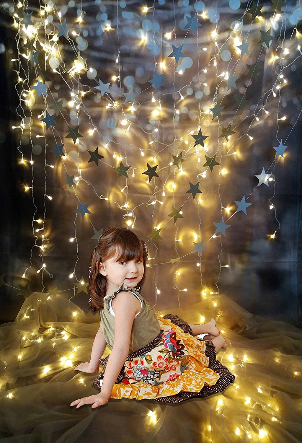 Katebackdrop:Kate Cotton Collapsible Cloth Curtain Star Lighting Photography Backdrops