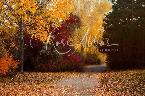 Kate Autumn Golden Leaves Backdrop Entworfen von Rose Abbas