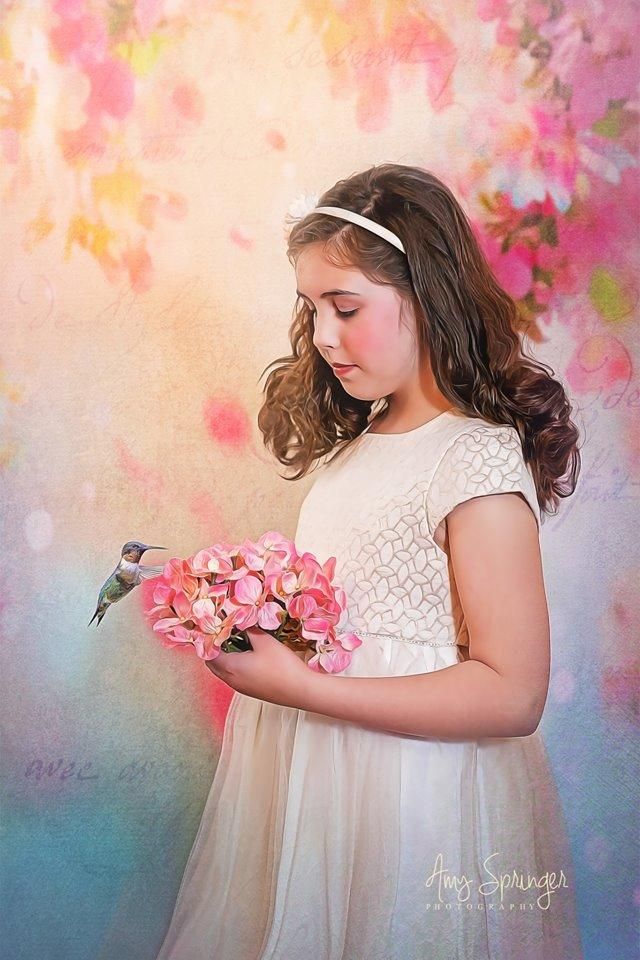 Laden Sie das Bild in den Galerie-Viewer, Katebackdrop:Kate Beautiful Flowers Valentine's Day Backdrop