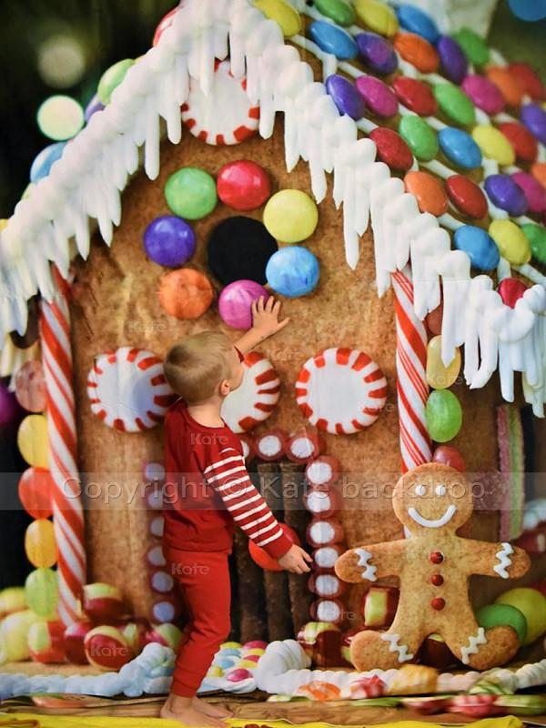 Katebackdrop:Kate Christmas Candy House Background Children Holiday For Photography