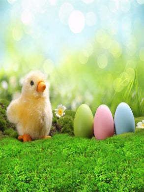 Katebackdrop:Kate Easter Yellow Chick Colorful Eggs Photography Backdrops