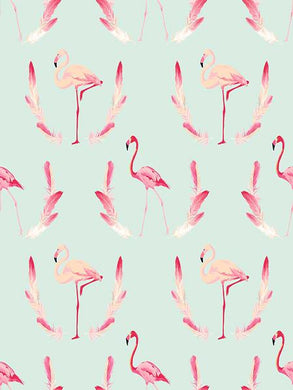 Katebackdrop:Kate Light Blue Backdrops Pink Flamingo for Baby Background