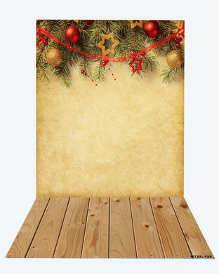 Katebackdrop:Kate Christmas Texture backdrop + wood floor mat