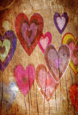 Katebackdrop:Kate Various Hearts Wooden floor Backdrop for Valentine's Day Photography