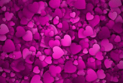 Katebackdrop:Kate Romantic Dark Pink Hearts Backdrop for Valentine's Day Photography
