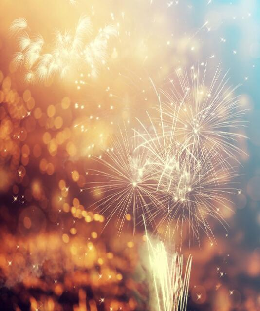 Katebackdrop:Kate Happy New Year Fireworks Backdrop