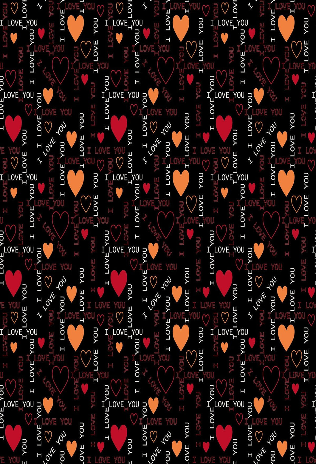 Katebackdrop:Kate Valentine's Day Black Love heart backdrop