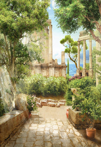 Katebackdrop:Kate Ancient Greek Courtyard Myths Backdrop