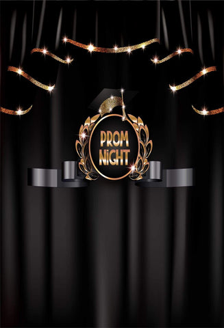 Katebackdrop£ºKate Prom Night Graduation Backdrop Black Curtain Background for School