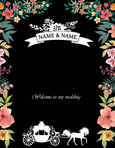 Katebackdrop:Kate Black Custom Wedding flower Backdrop wedding Background