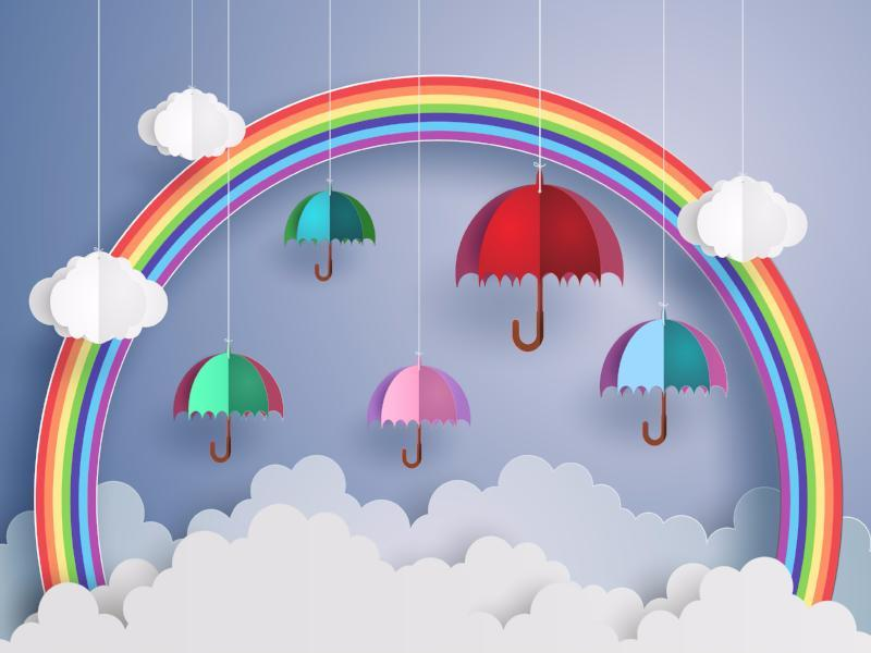 Katebackdrop:Kate Rainbow umbrella cloud children/newborn backdrop photography Europe