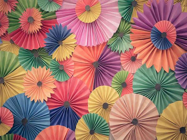 Katebackdrop:Kate Retro Colorful Fan flower Backdrop